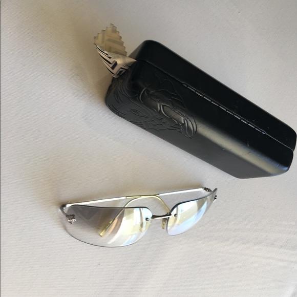 Versace Accessories 90s Jlo Clear Frameless Sunglasses Poshmark